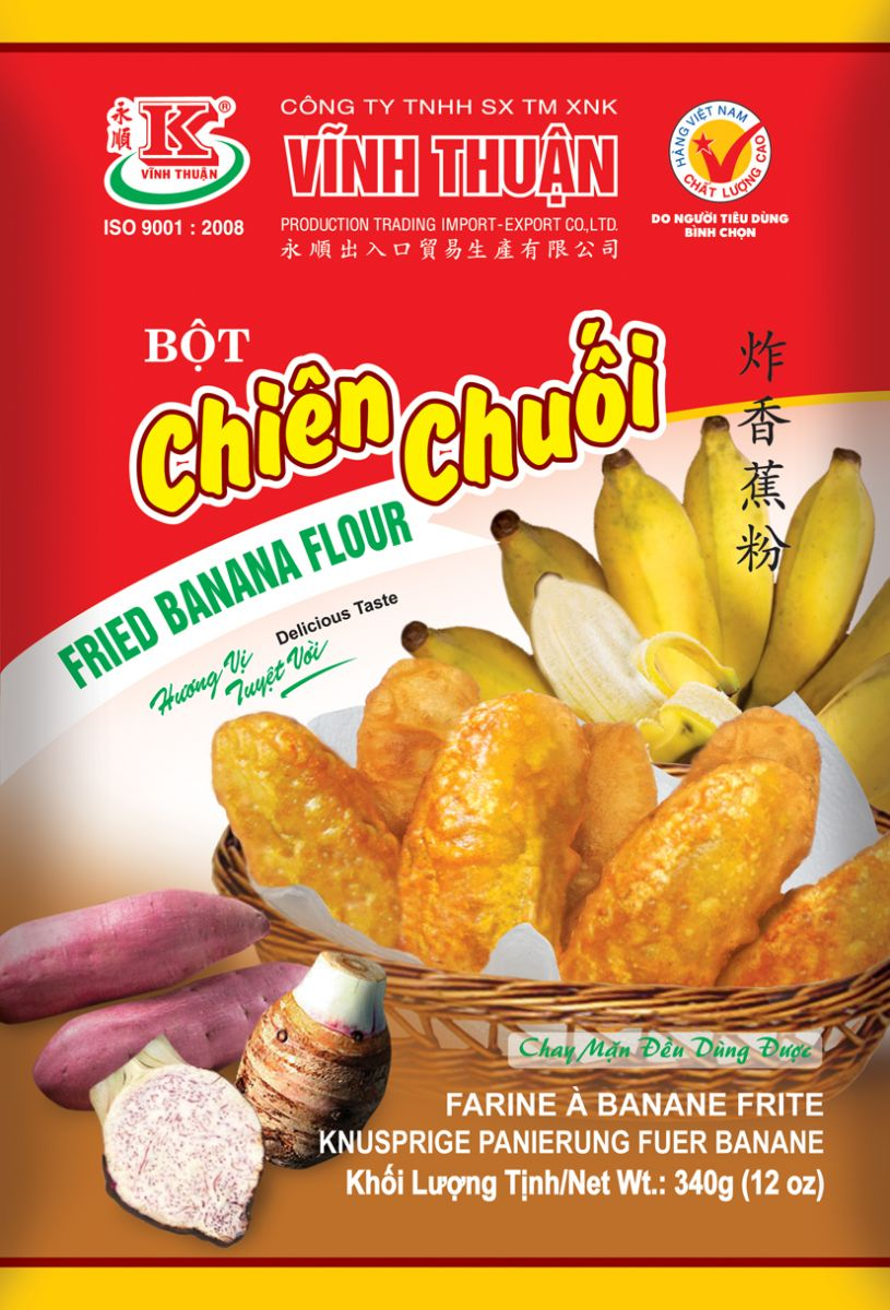 FRIED BANANA FLOUR VINH THUAN 340G