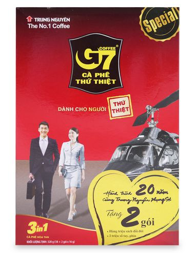 G7 INSTANT COFFEE 3IN1 16GR X 18SACHETS